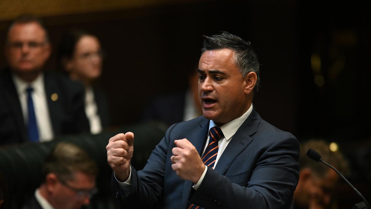 NSW Deputy Premier John Barilaro has clashed with colleague Matt Kean. Picture: AAP