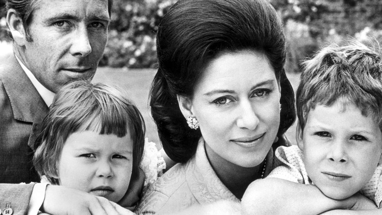Princess Margaret with husband Lord Snowdon (Antony Armstrong-Jones), daughter Sarah and son David in 1967.