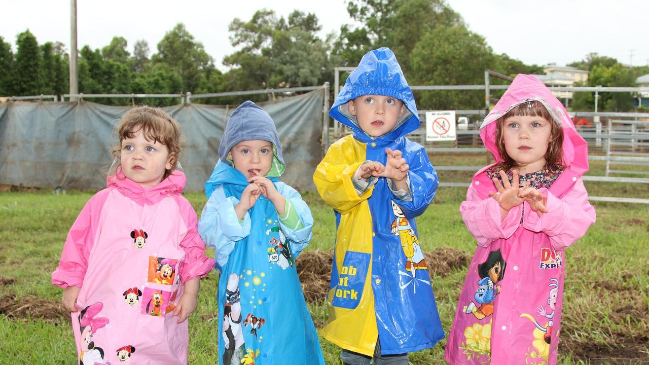 RAIN NO WORRY: Charlotte Head, Jacob Clay, James Clay and Amelia Head at a 2013's Killarney Show.