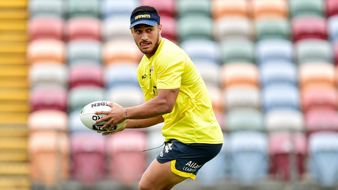 NRL; North Queensland Cowboys pre-season training at Townsville Football Stadium. Valentine Holmes. Picture: Alix Sweeney