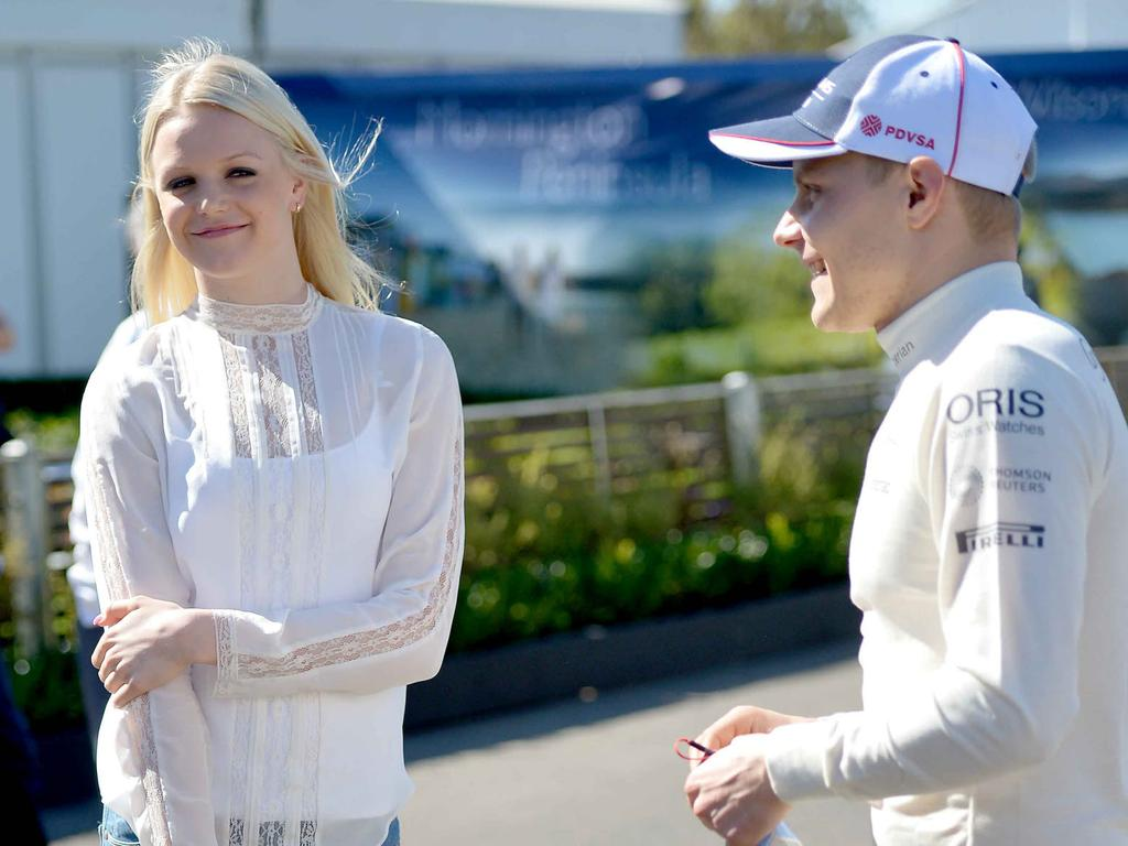 Emilia and Vatltteri at the 2013 Australian Formula One Grand Prix.