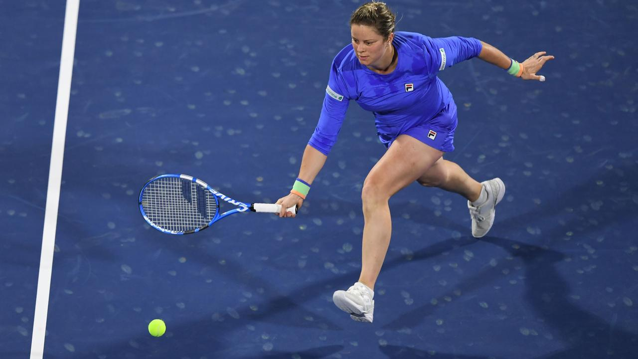 Kim Clijsters pushed Australian Open finalist Garbine Muguruza all the way.