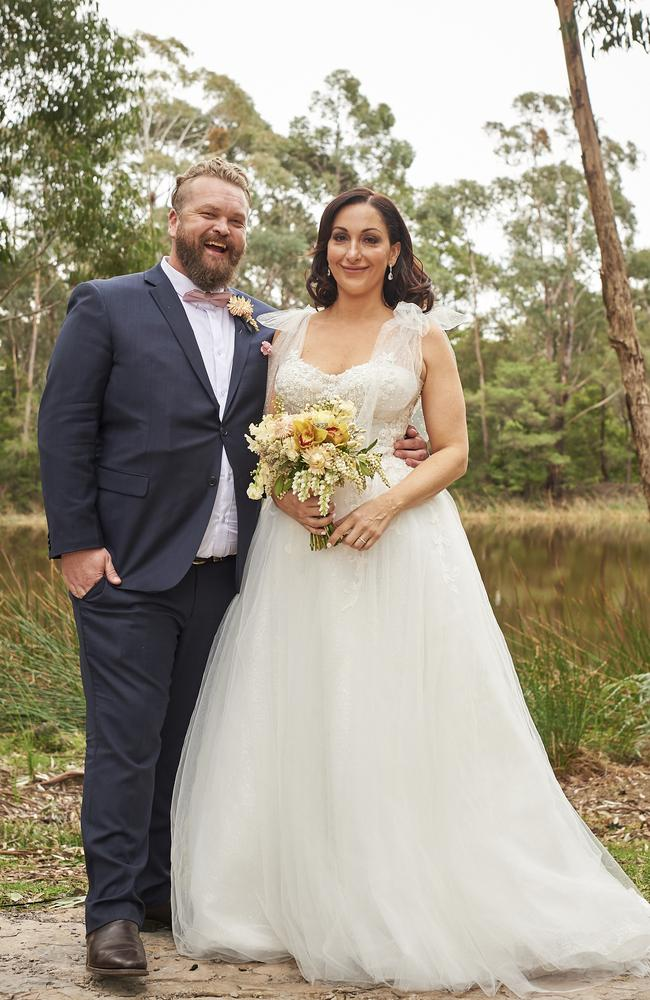 Married At First Sight couple Luke Eglin and Poppy Jennings. Picture: Nine