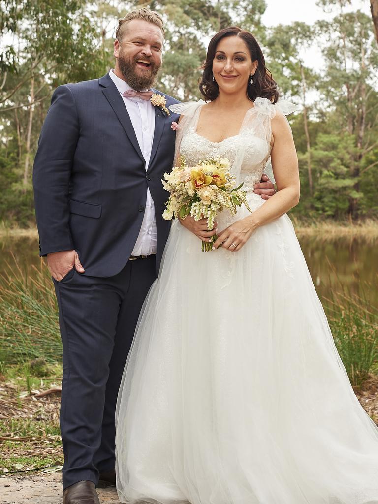 MAFS contestants Luke Eglin Poppy Jennings were married on the show. Picture: Nine