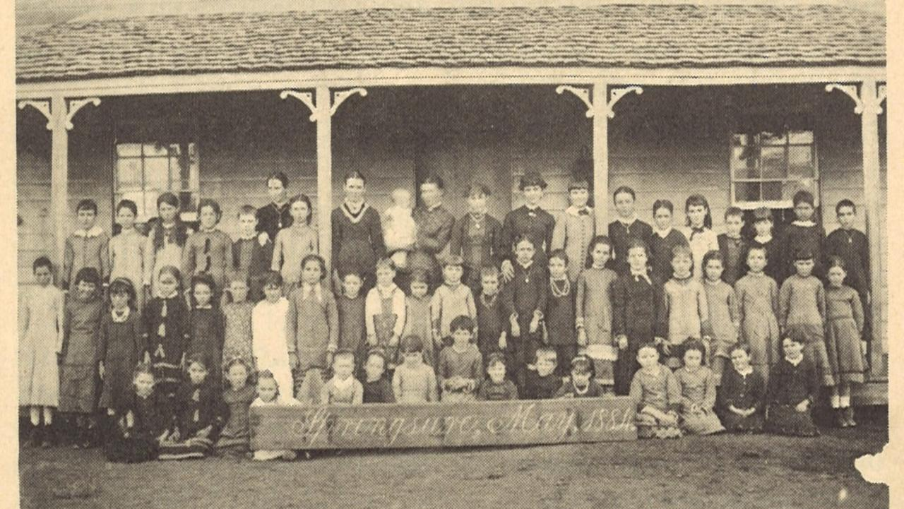 150 YEARS: The first Springsure State School building in 1870.