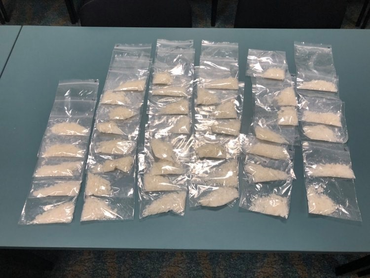 The ice seized in raids across Rockhampton on Wednesday, February 19