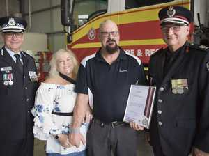 Anthony Brown receives QFES award
