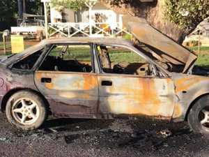 Car destroyed by freak lightning strike in overnight storm