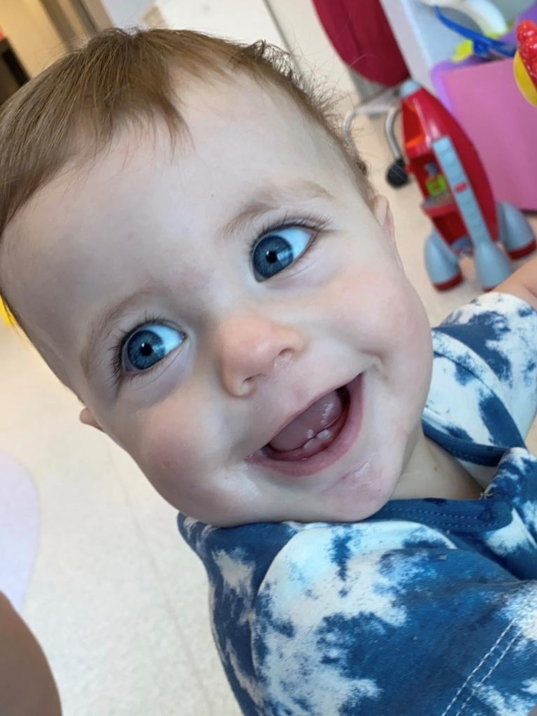 Nine-month-old baby boy Archer has been diagnosed with an extremely rare and aggressive brain cancer known as neuroblastoma and is undergoing critical treatment in at Queensland Children's Hospital.