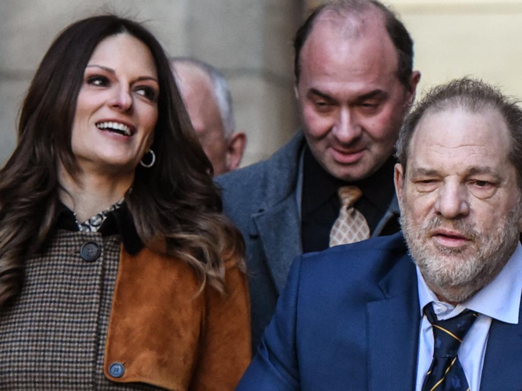 Lawyer Donna Rotunno with client Harvey Weinstein. Picture: Getty