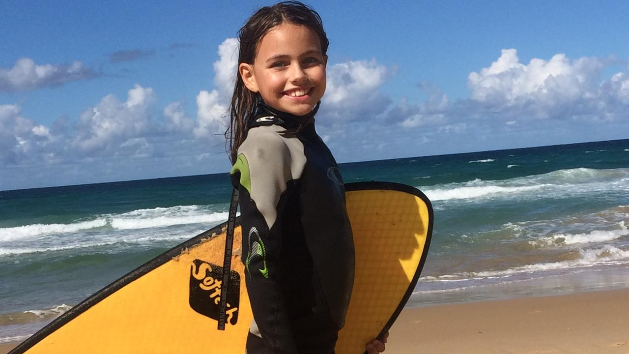 BRAVE: Mooloolaba resident, Eva Nicol Rann, 10, will shave her long hair off to raise money for the World's Greatest Shave on Wednesday, March 11.