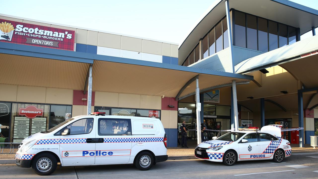 Police attend a ram raid at Redlynch Central. PICTURE: ANNA ROGERS