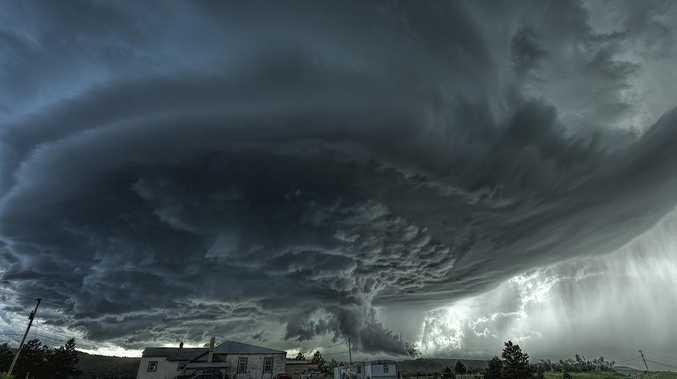 Giant hail, intense rain as storms threaten SE QLD