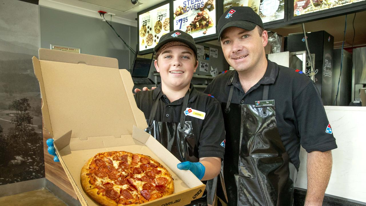 The expansion of Domino's has allowed pizza to be delivered faster. Picture: Richard Walker/AAP