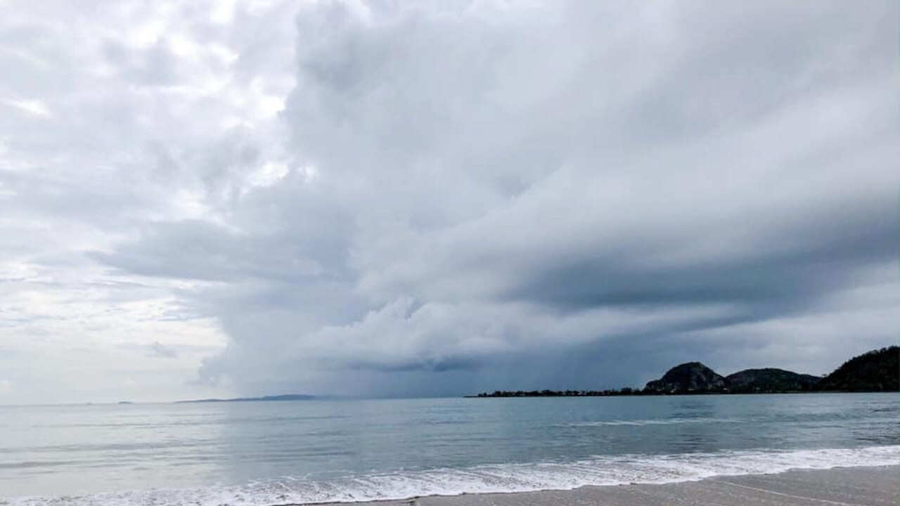 RAIN COMING: Amanda Carpenter's photo of the clouds rolling in towards Lammermoor beach could be replicated this weekend.