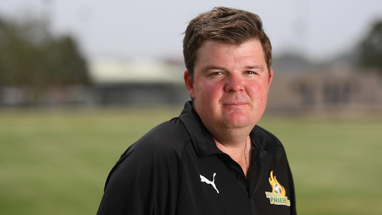 Western Pride head coach Andrew Catton. Picture: Rob Williams