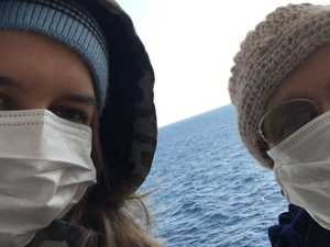 Teen's 'upsetting' ordeal on virus ship