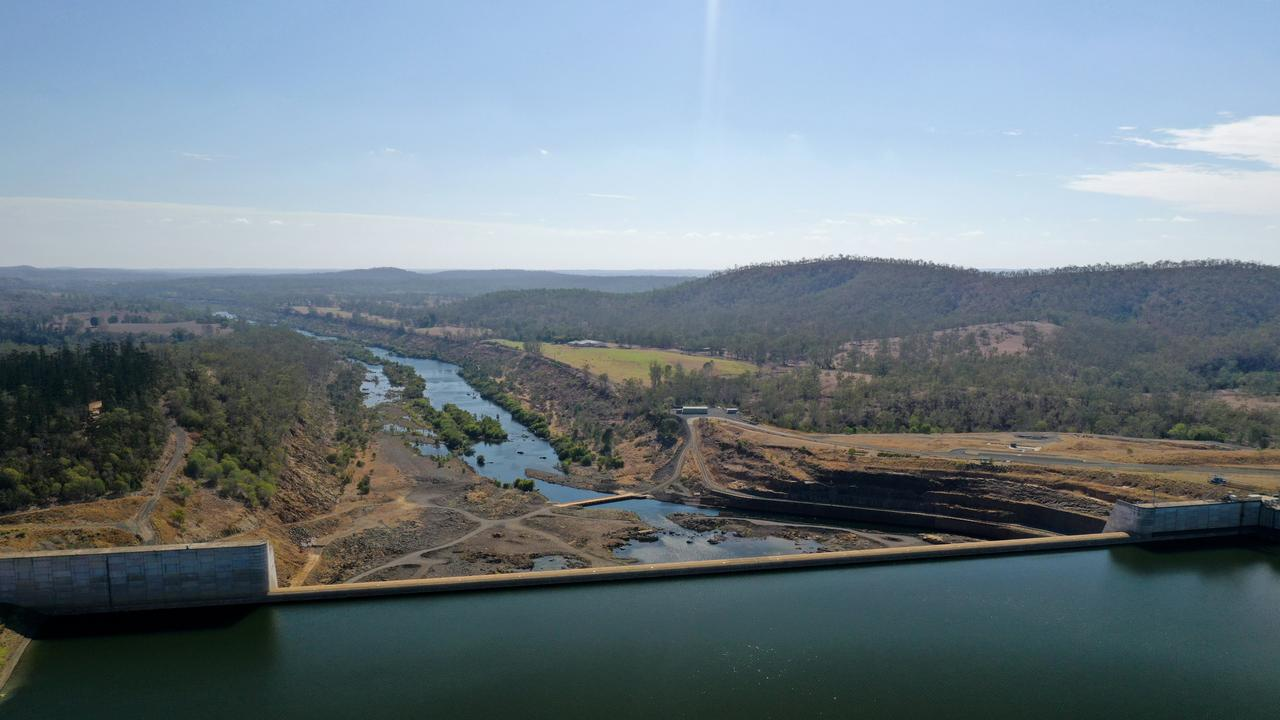 An aerial photograph of Paradise Dam, which is the subject of an independent inquiry.