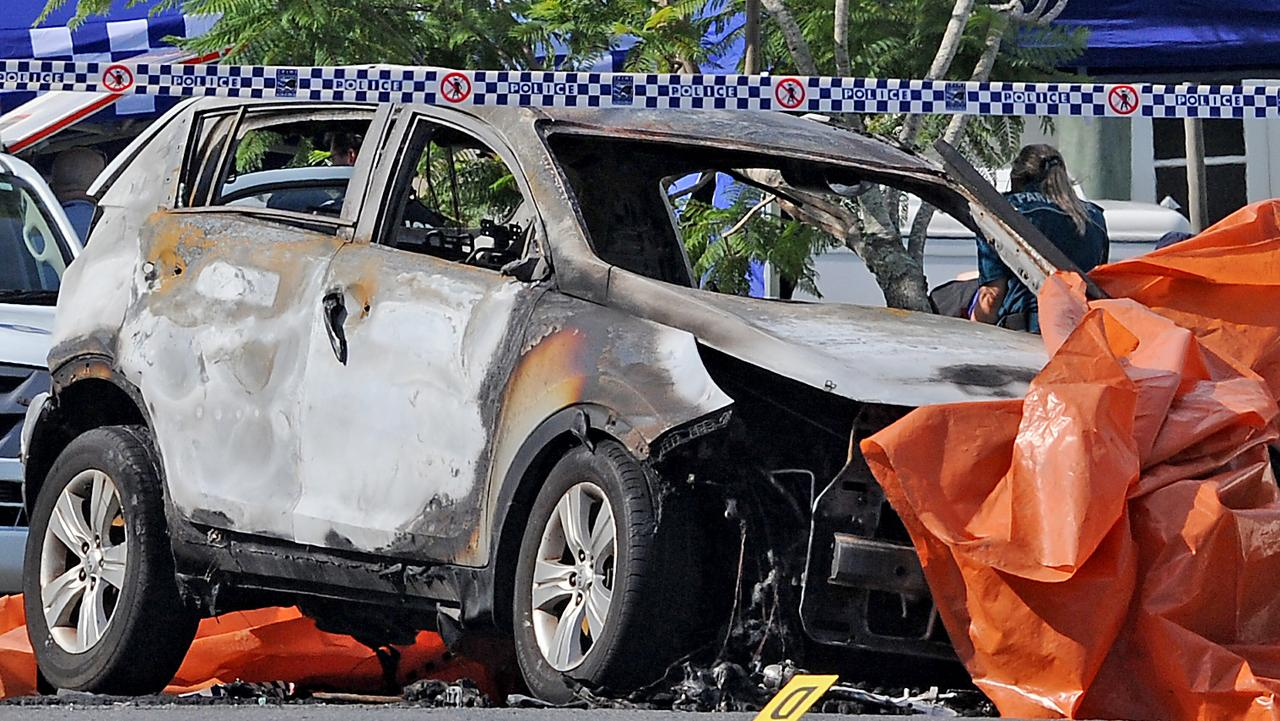 Hero tried to save Brisbane family who died when their car went up in flames. Picture: John Gass/AAP