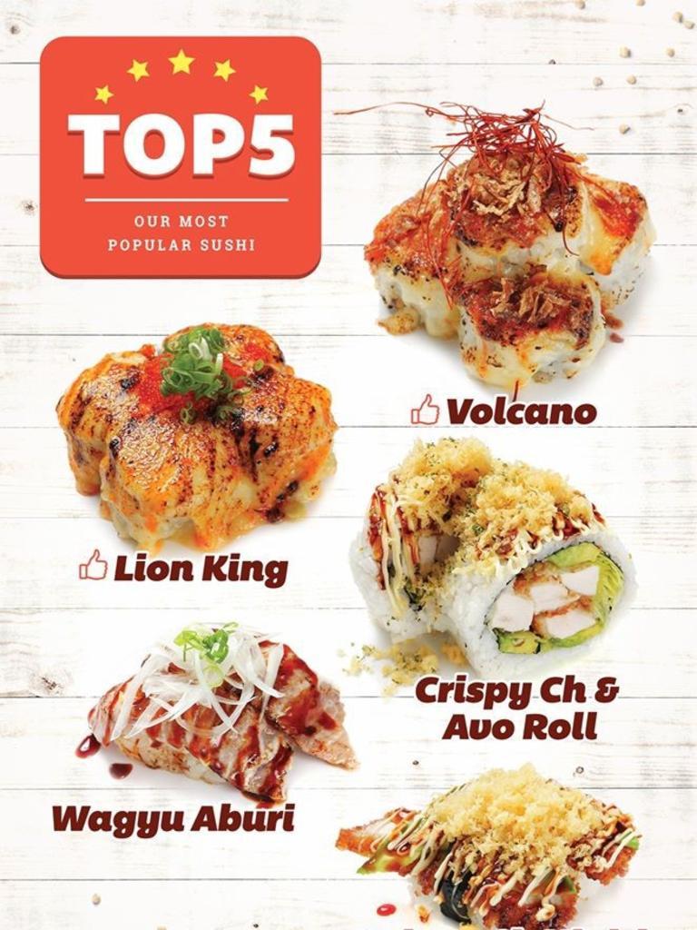 Wara Sushi's top dishes.