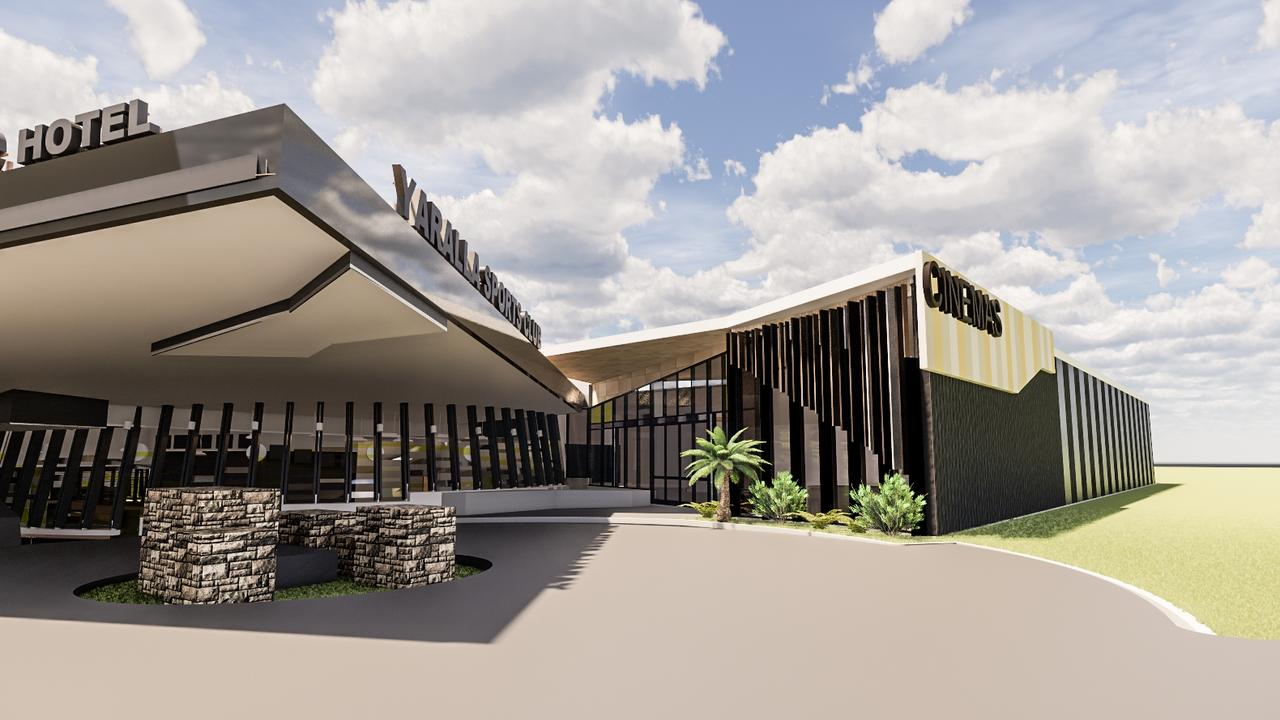 An artist's impression of Yaralla Sports Club's proposed cinema complex.