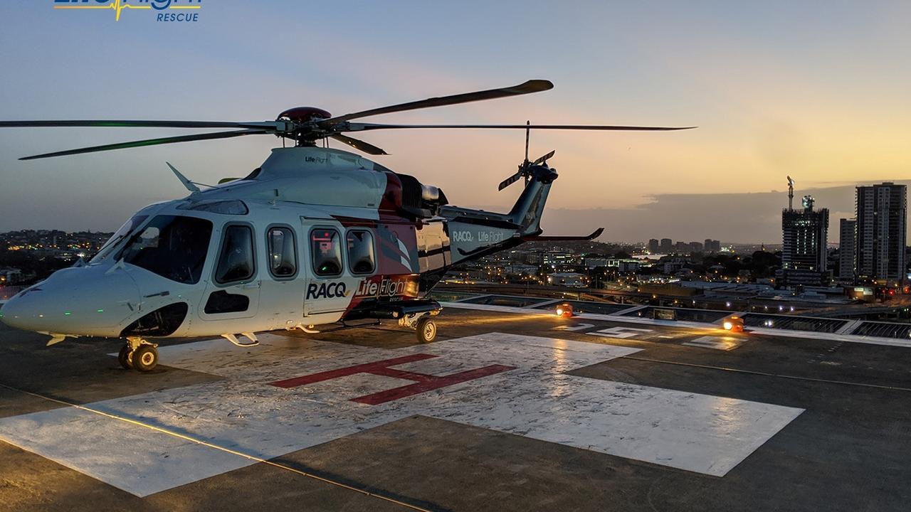 Toowoomba's RACQ Lifeflight Rescue helicopter was tasked to Nanango just before 1.30am on Thursday, February 20. (Photo: RACQ Lifeflight)