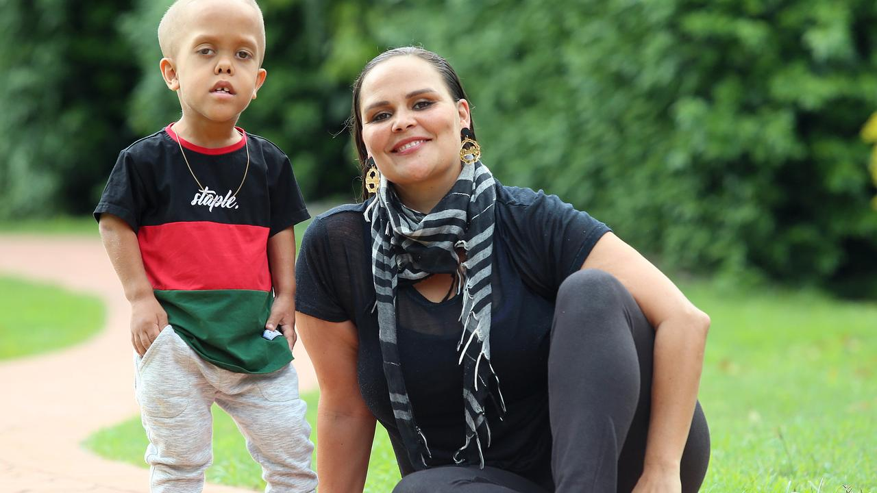 Yarraka Bayles and her son Quaden. Picture: Jono Searle