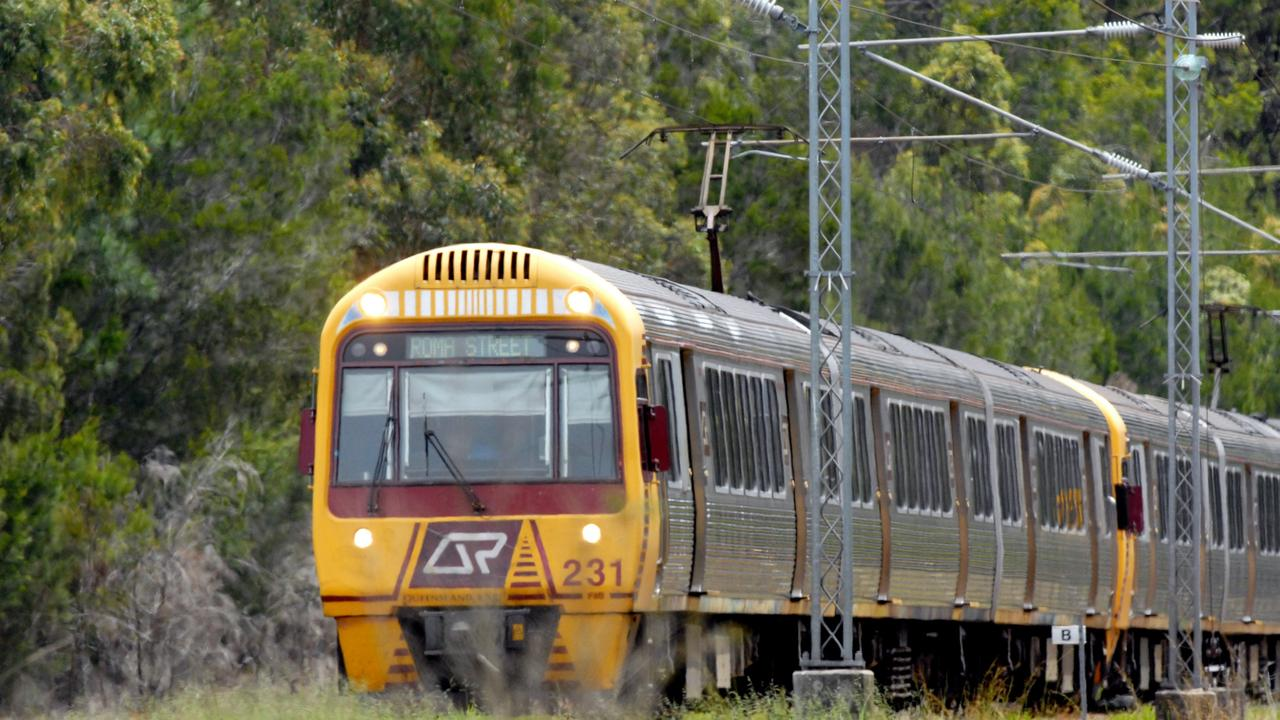 Commuters on the Sunshine Coast line face hour-long delays.