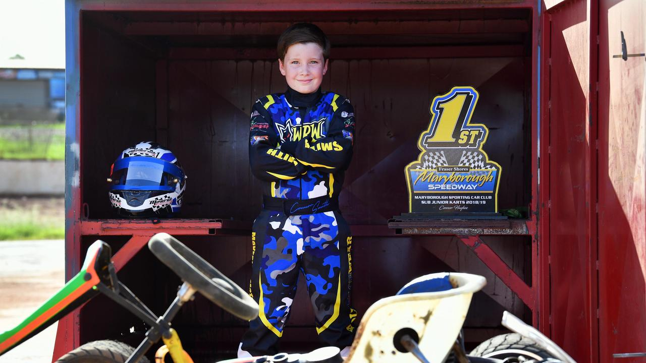 NEED FOR SPEED: Maryborough go kart champion Connor Smith will head off to Adelaide in April for the Speedway Karting Association Australiasian titles. Photo: Alistair Brightman