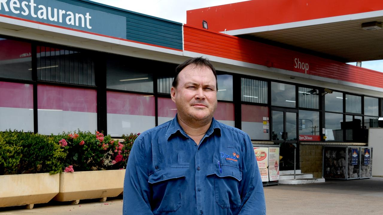 FED UP: Darren Bauman, owner of Dingo Roadhouse and Hotel is demanding better from Queesland Government.