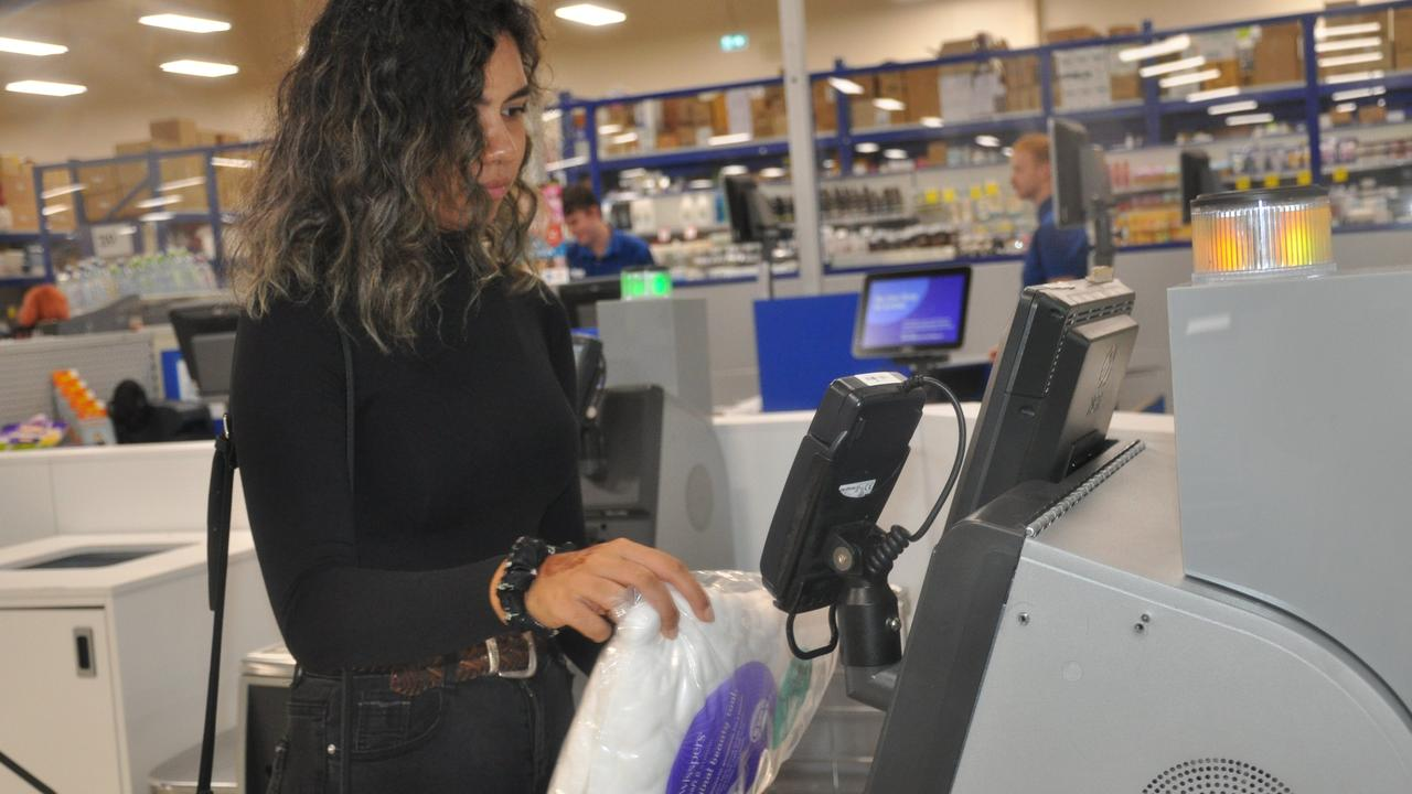 Self-serve check-outs risk full-time employment opportunities. Picture: supplied