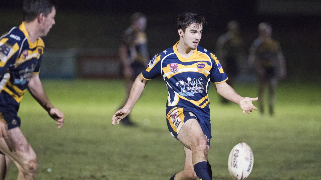 FOOTY IS BACK: Cory Haywood will have a chance to push for A-grade claims for Highfields this weekend. Photo: Nev Madsen