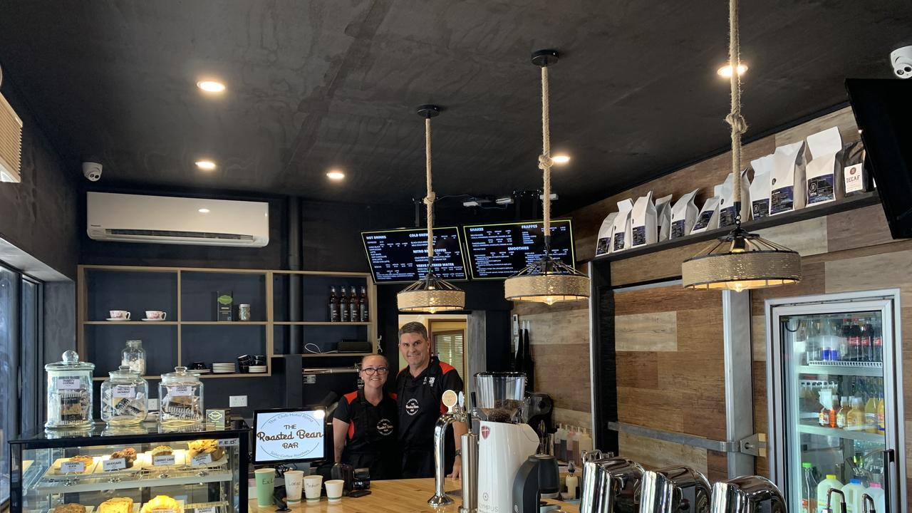 CAFFEINE KICK: Deb and Chris Van'tHof preparing for the opening of the Roasted Bean Bar this Saturday from 7am.