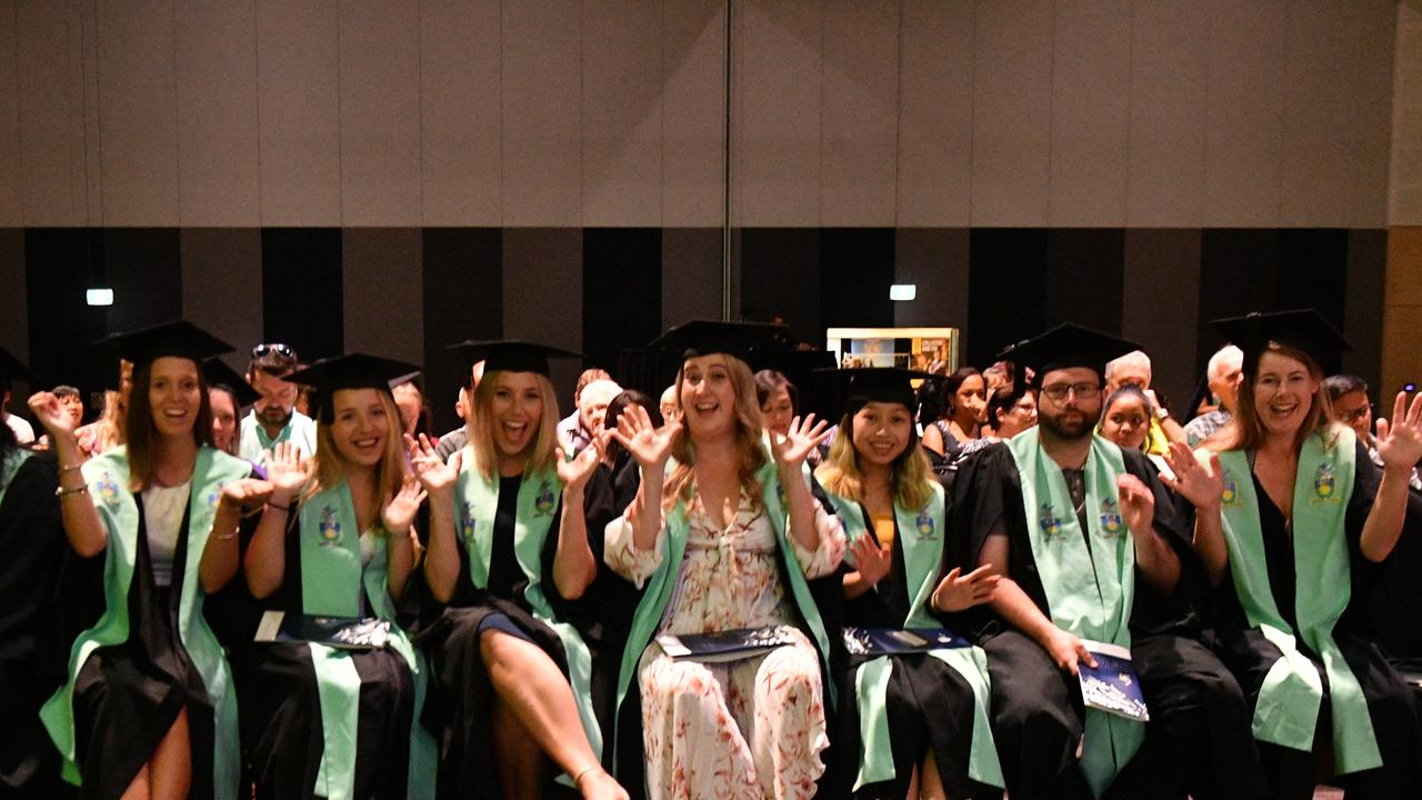 A group of graduates at the CQ University graduation on February 20, 2020 at the GECC.