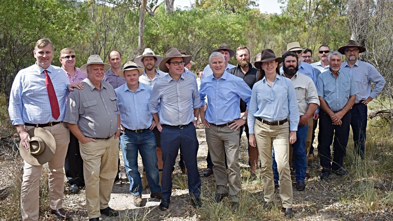 Producers and politicians unite in support of Emu Swamp Dam. Picture: Matthew Purcell
