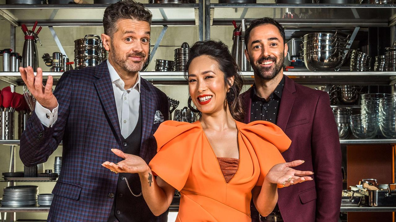 MasterChef judges Jock Zonfrillo, Melissa Leong and Andy Allen. Picture: Jake Nowakowski
