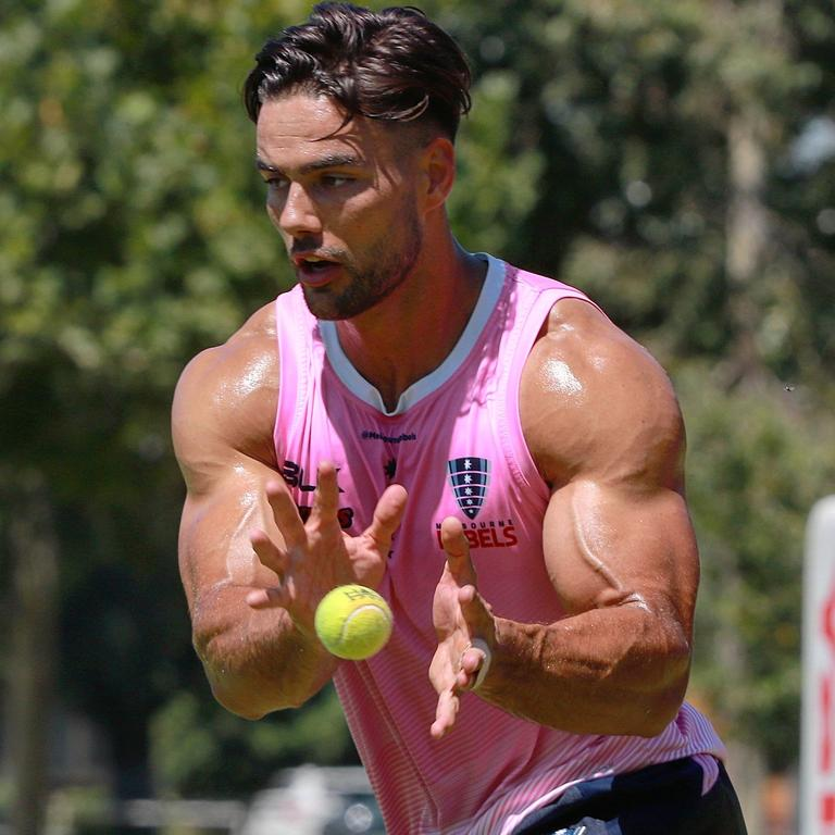 Rebels halfback Ryan Louwrens is quite the specimen. Picture: Melbourne Rebels/Twitter