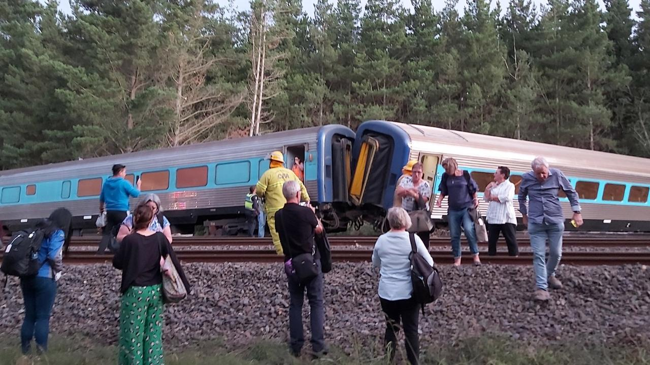 The train was carrying 160 passengers. Picture: Twitter/Dr Scott Rickard