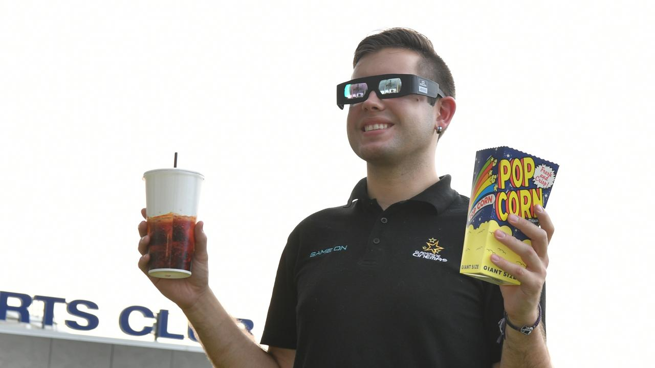 Gladstone cinemas staff member Aidan Lisle is excited for the new facility to be built at Yaralla Sports Club.