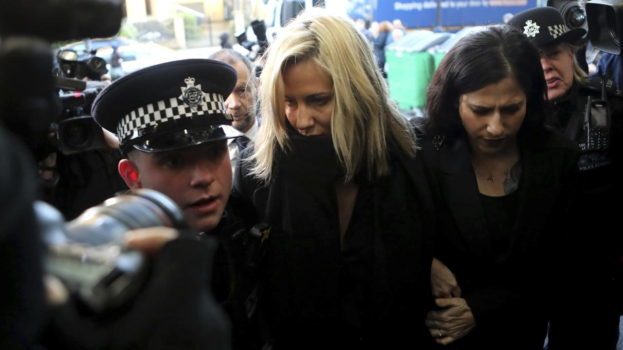 Former Love Island TV presenter Caroline Flack had been charged with assault. Picture: AP/Petros Karadjias