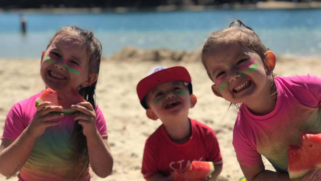 The Baxter children at the beach. Picture: Supplied