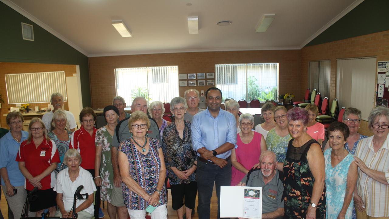 Member for Coffs Harbour Gurmesh Singh congratulates the Woolgoolga Seniors' Centre.