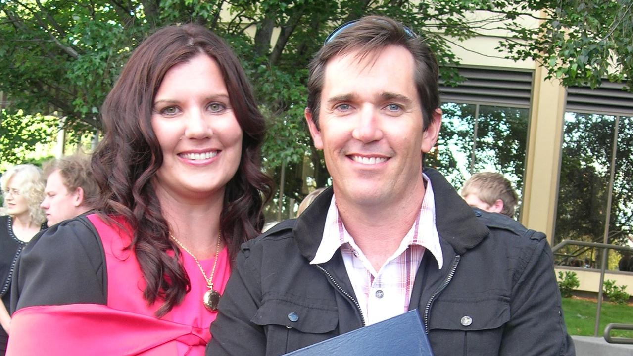 ACADEMIC ACHIEVEMENT: Former Ipswich international swimmer Dr Jenny McMahon (pictured with husband Chris) has received an Order of Australia Medal for her valuable research.