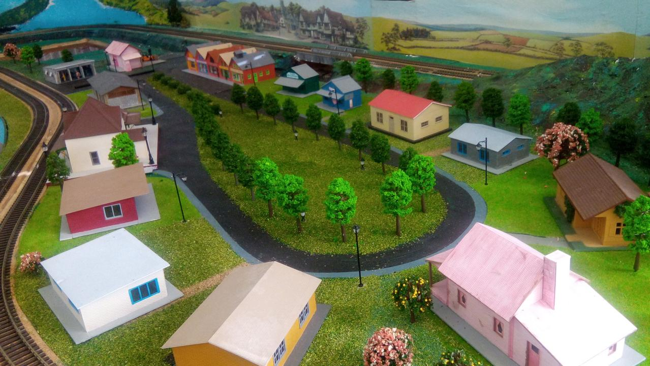 Members of the Gatton Men's Shed have been hard at work constructing a model railway setup.