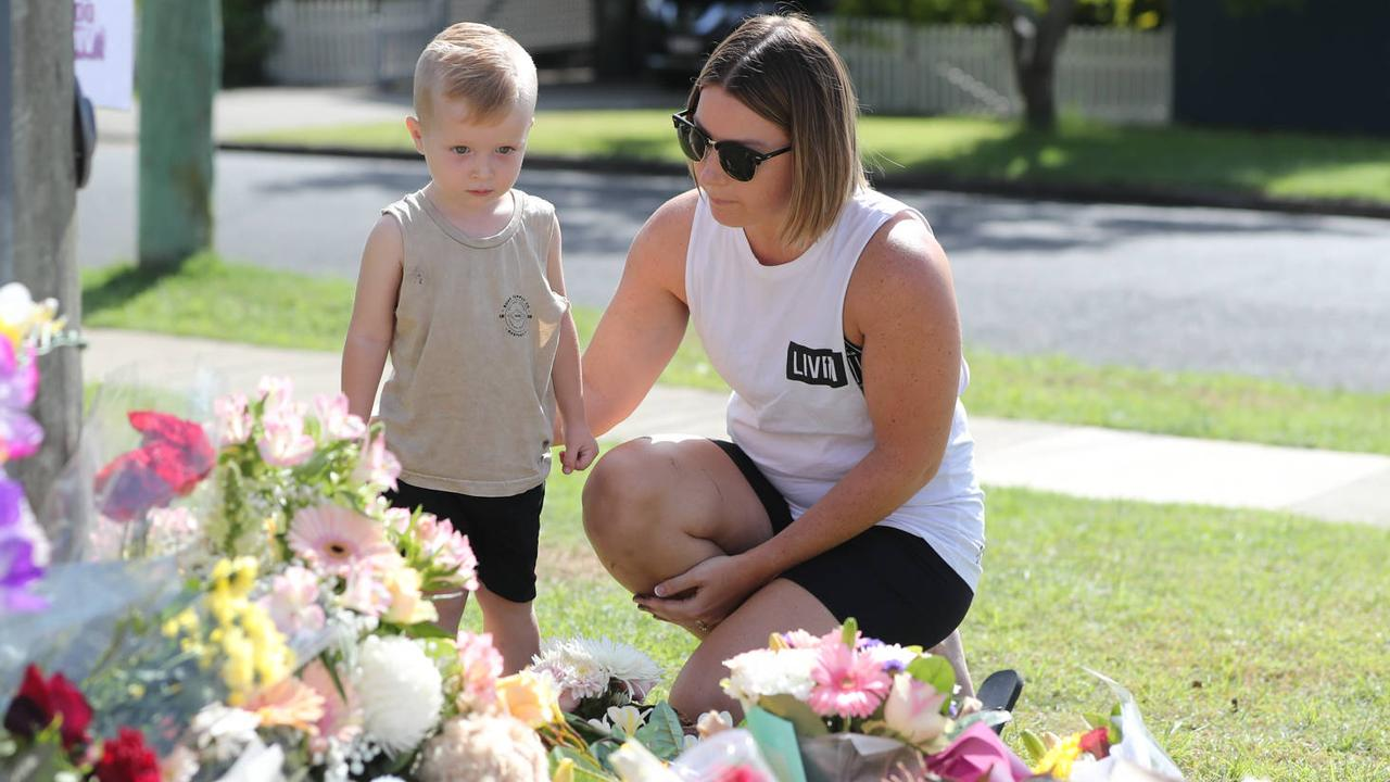 Hannah's family friend Chantel Taylor with her son Henley. Picture: Peter Wallis