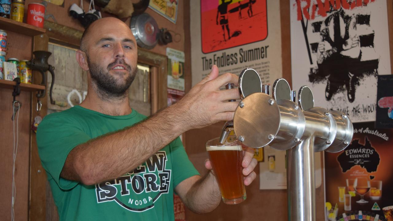 CHEERS: Noosa business The Brew Store was inspired by a gift Scott Hooper received.