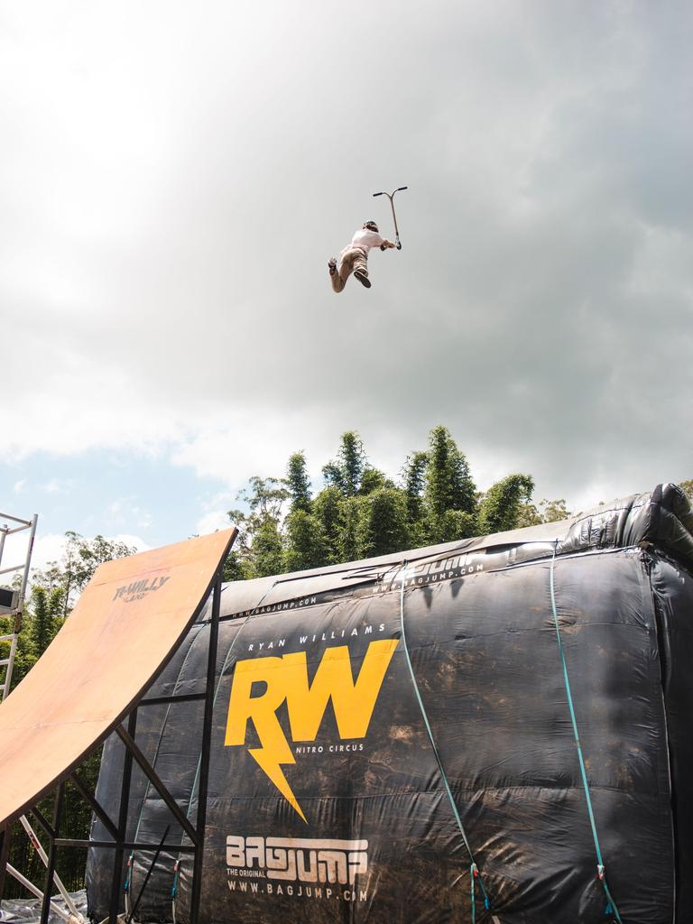 Will Barlow showing off his stuff at RWillyland. Photo: Arnhem Peterson