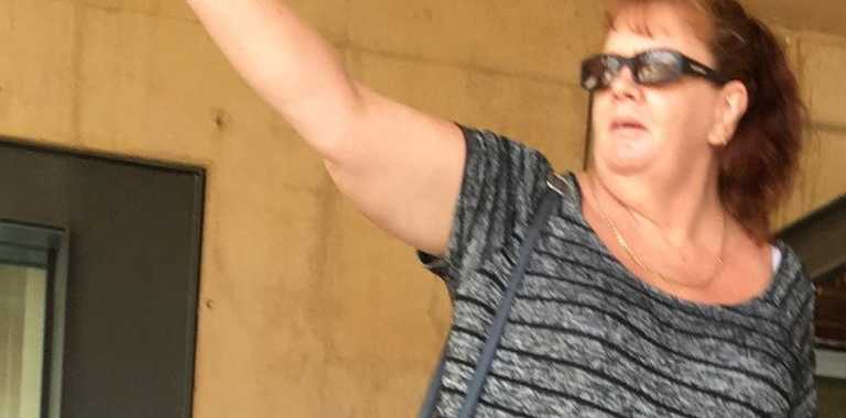 Leisa Anne Hibbard outside Ipswich courthouse after admitting to possession of the drug ice.