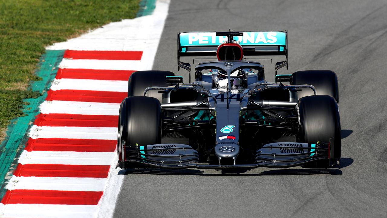Lewis Hamilton drives the Mercedes AMG Petronas F1 Team Mercedes W11 at Circuit de Barcelona-Catalunya. Picture: Mark Thompson/Getty Images