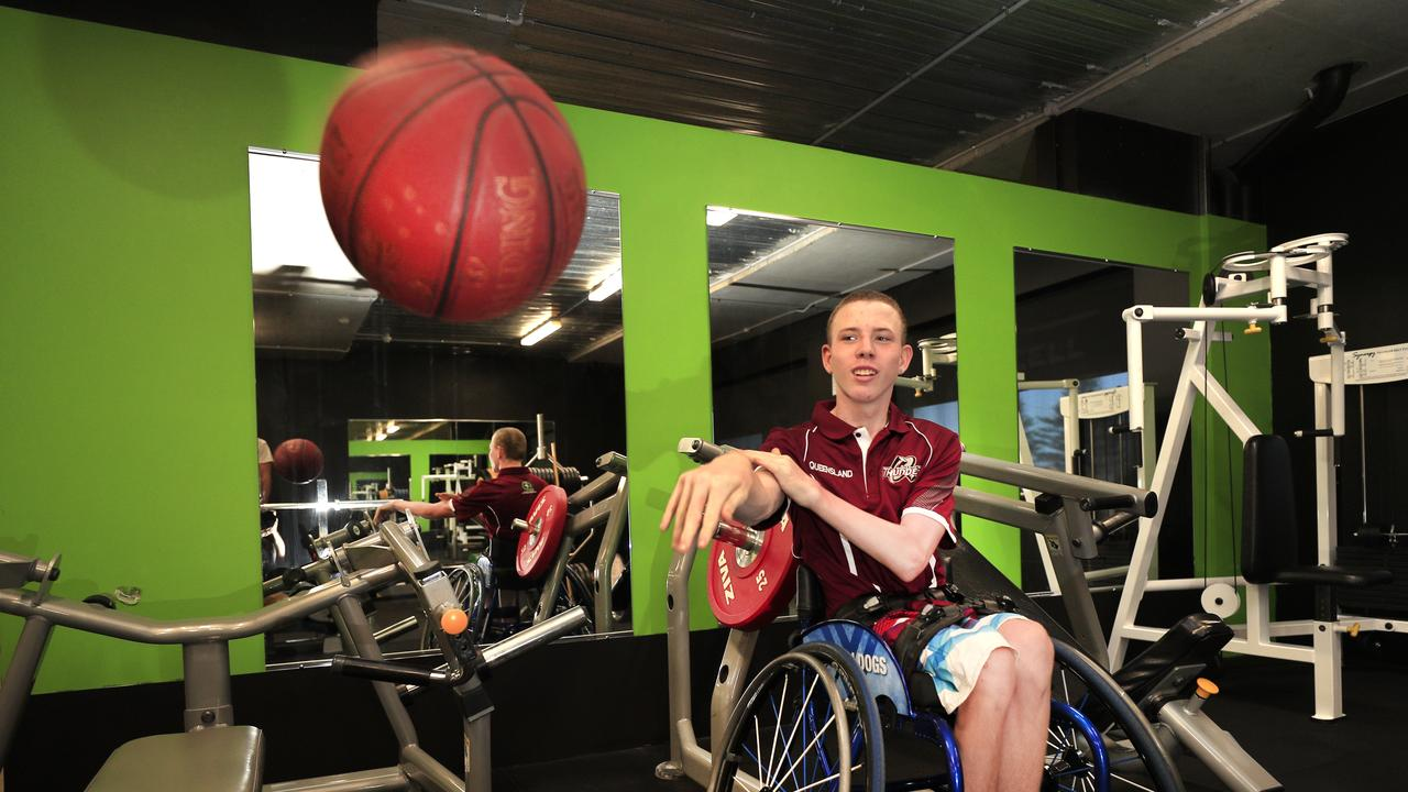 Pottsville wheelchair basketball 'fanatic' Jace Tyler is hoping to compete at the national under 18 wheelchair basketball championships in Victoria in April. Photo: SCOTT POWICK